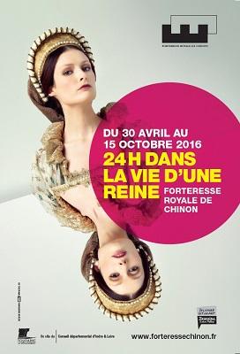 Affiche de l'exposition 24h dans la vie d'une reine