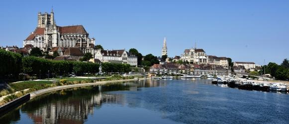 Vue panoramique d'Auxerre © Josette Laliaux Ville d'Auxerre