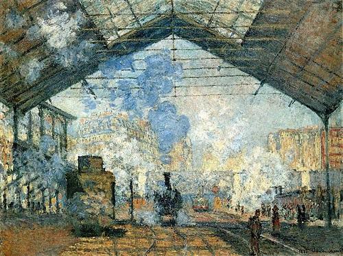 La Gare Saint-Lazare par Claude Monet, 1877, Musée d'Orsay