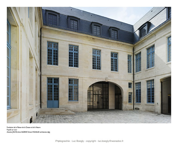 La cour du musée hotel de Mongelas (XVIIIe siècle) © Luc Boegly – musée de la Chasse et de la Nature -