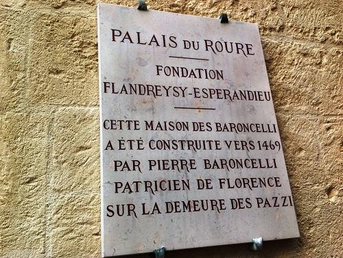 Plaque du Palais du Roure
