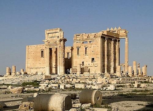 Temple de Bel à Palmyre en 2010, détruit en 2015 par l'Etat Islamique © Bernard Gagnon - CC BY-SA 3.0
